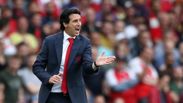 Arsenal boss Unai Emery