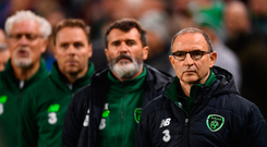 Martin O'Neill's Ireland team may have picked up a draw last night, but there was little to be cheery about at the Aviva Stadium. Photo: Ramsey Cardey/Sportsfile