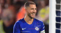 Eden Hazard says he will not force Chelsea to sell him to Real Madrid (Adam Davy/PA)