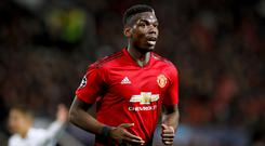 Paul Pogba, pictured, is being judged unfairly due to his transfer fee, says Hugo Lloris (Martin Rickett/PA Images)
