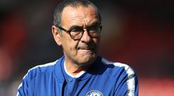 Chelsea head coach Maurizio Sarri believes Saturday's opponents Manchester United have the strongest squad in the Premier League (Andrew Matthews/PA)