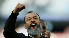 Wolves manager Nuno Espirito Santo has a plot of land in Portugal he cannot build on. (Nigel French/PA)