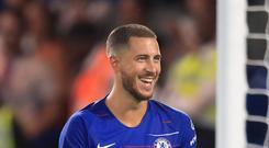 Eden Hazard has starred for Chelsea so far this season and will hope to do so against Manchester United on Saturday (Adam Davy/PA Images)