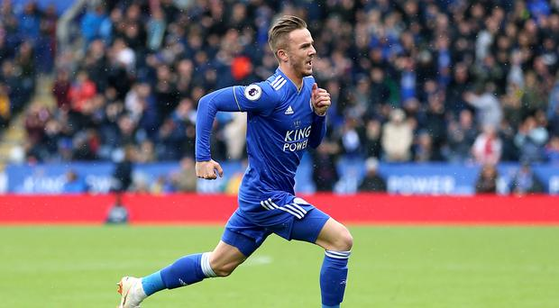 Leicester's James Maddison has scored three goals this season (Nigel French/PA)