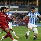 Mohamed Salah scored the only goal of the game as Liverpool saw off Huddersfield (Richard Sellers/PA).