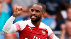 Something has clicked for Alexandre Lacazette. Pic: PA