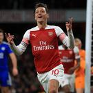 Mesut Ozil shone in Arsenal's latest win (Mike Egerton/PA)
