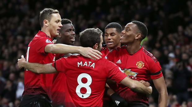 Manchester United claimed a hard-fought victory over Everton at Old Trafford (Martin Rickett/PA)
