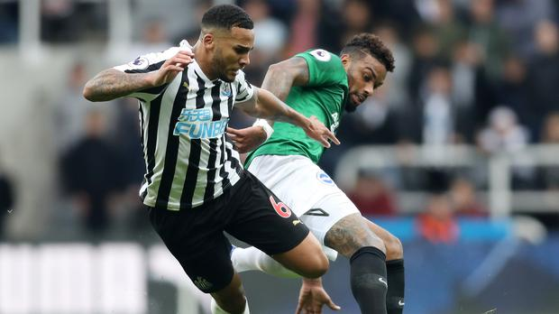 Newcastle skipper Jamaal Lascelles (left) has insisted the players have not been unsettled by the uncertainty over manager Rafael Benitez's future (Owen Humphreys/PA)