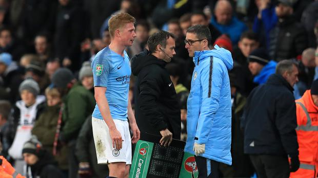 Kevin De Bruyne is set to miss more of Manchester City's season (Mike Egerton/PA)