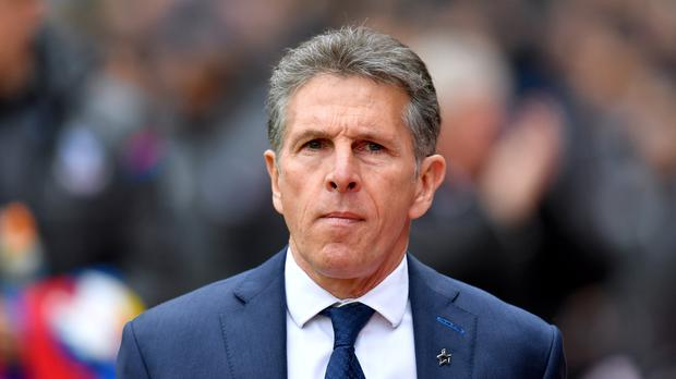 Leicester manager Claude Puel. Photo: Dominic Lipinski/PA