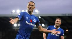 Richarlison scored twice in Everton's 3-1 win over Brighton (Martin Rickett/PA)