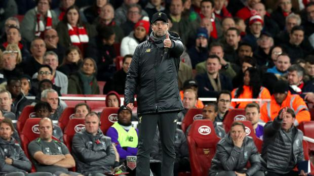 Liverpool manager Jurgen Klopp felt his side should have had another goal (Jonathan Brady/PA)