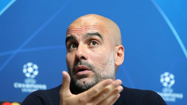 Pep Guardiola faced questions on Tuesday about the club's financial conduct (Martin Rickett/PA)