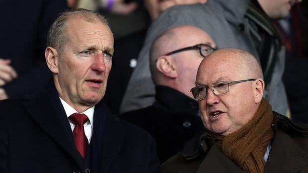 Les Reed, right, has been sacked by Southampton chairman Ralph Krueger, left (Andrew Matthews/PA)