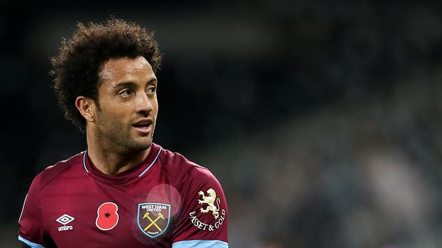 Felipe Anderson notched his third goal in two games (Steven Paston/PA)