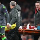 Danny Welbeck sustained his injury against Sporting Lisbon (Nick Potts/PA)