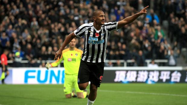 Salomon Rondon scored his first Premier League goals for Newcastle in a 2-1 victory over Bournemouth (Owen Humphreys/PA)