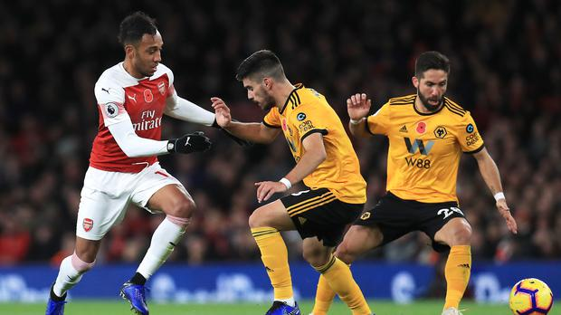 Arsenal denied Wolves an overdue victory in north London (Mike Egerton/PA)