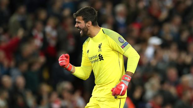 Liverpool goalkeeper Alisson Becker believes people expected him to be perfect following his £65million move from Roma (Peter Byrne/PA).