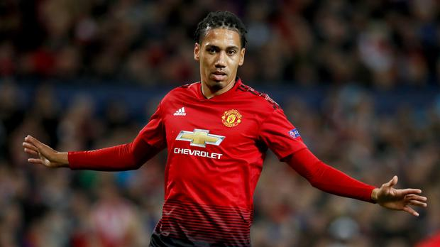Manchester United's Chris Smalling is being eyed up by Everton, according to reports (Martin Rickett/PA)