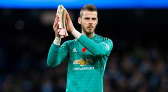 Manchester United goalkeeper David De Gea is yet to commit to his long-term future to Old Trafford (Martin Rickett/PA)