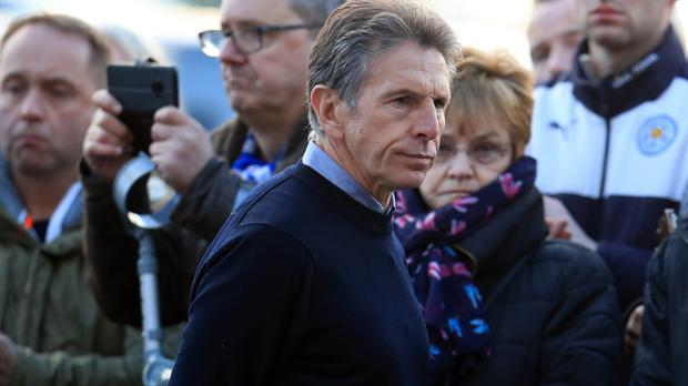 Leicester manager Claude Puel (pictured) paid his respects to Vichai Srivaddhanaprabha earlier this month (Mike Egerton/PA)