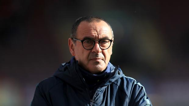 Maurizio Sarri wants his Chelsea players to be more aggressive from the start of matches (Mike Egerton/PA Images)