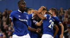 Kurt Zouma's return to the squad gives Everton manager Marco Silva a selection headache (Tim Good/PA).