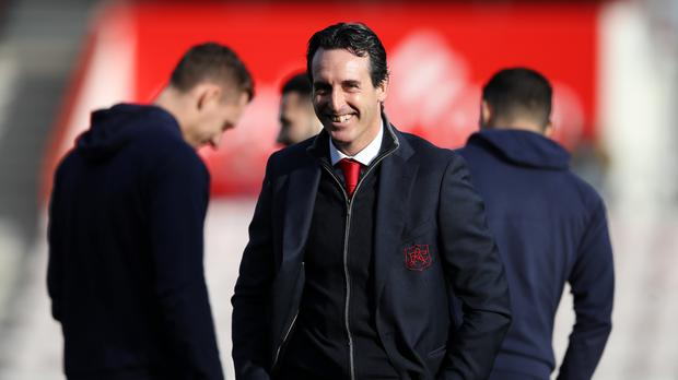 Unai Emery had been slightly concerned by a run of draws (John Walton/PA)