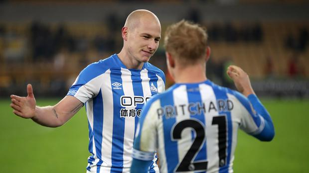 David Wagner heaped praise on Aaron Mooy, pictured left, after a match-winning display (Nick Potts/PA)