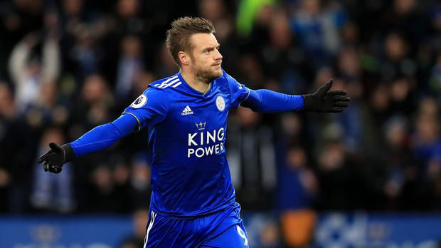 Leicester's Jamie Vardy is a doubt for their trip to Fulham. (Mike Egerton/PA)