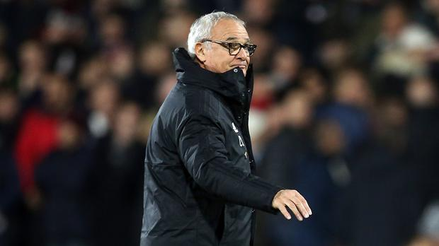 Claudio Ranieri saw Fulham held at home to former club Leicester (Steven Paston/PA)