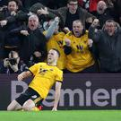 Wolves' Diogo Jota scored the winner in the 2-1 victory over Chelsea (Nick Potts/PA)