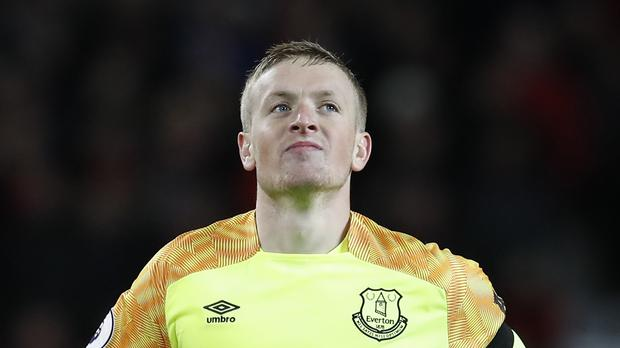 Jordan Pickford was back in action for Everton after his derby blunder (Martin Rickett/PA)