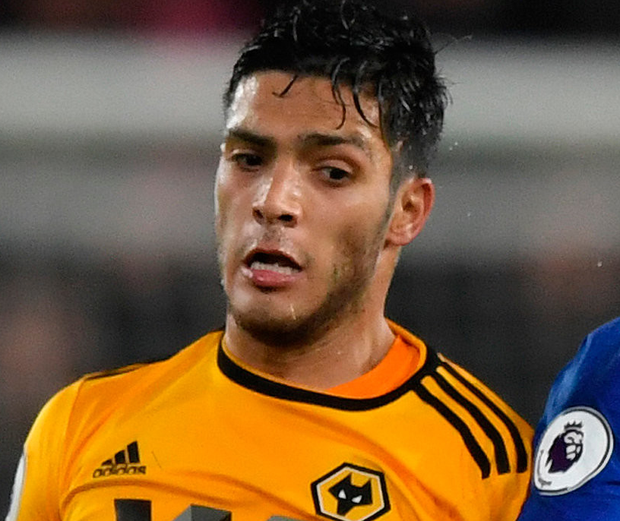 Level pegging: Raul Jimenez got Wolves' equaliser just before the hour mark. Photo: Getty