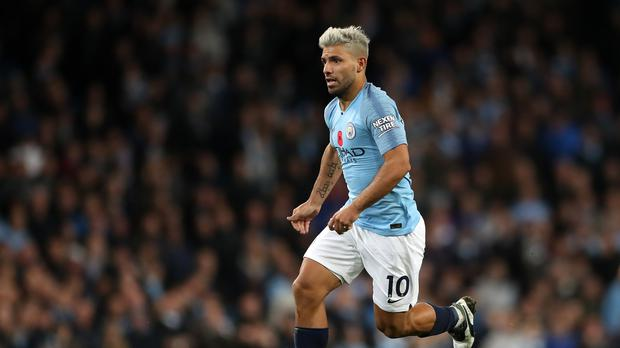 Sergio Aguero will miss Manchester City's trip to Chelsea (Nick Potts/PA)