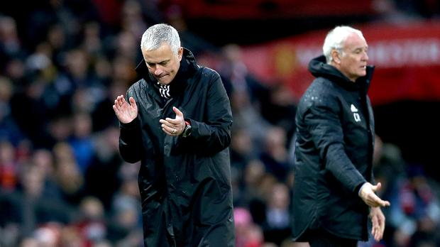 Manchester United manager Jose Mourinho, left, was pleased with his side's performance (Barrington Coombs/PA)