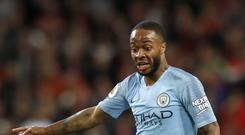 Manchester City's Raheem Sterling appeared to be the target of alleged racist abuse during Chelsea's win on Saturday (Martin Rickett/PA).