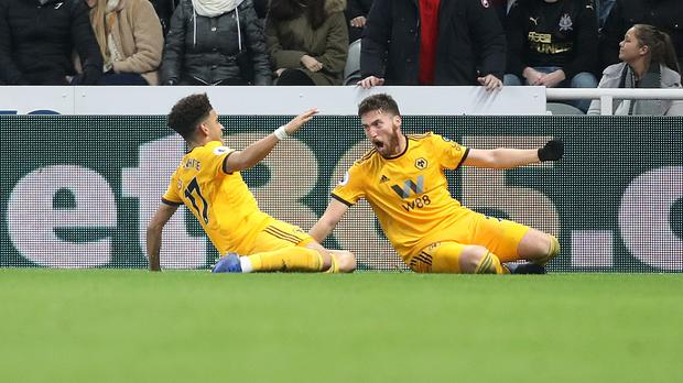 Matt Doherty, right, scored the late winner (Owen Humphreys/PA)