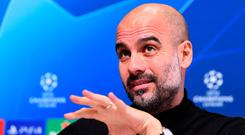 Manchester City manager Pep Guardiola. Photo: Getty Images
