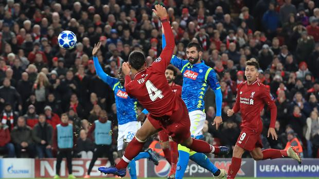 Virgil Van Dijk could have made Liverpool's Champions League progress smoother had he taken his chance against Napoli (Peter Byrne)