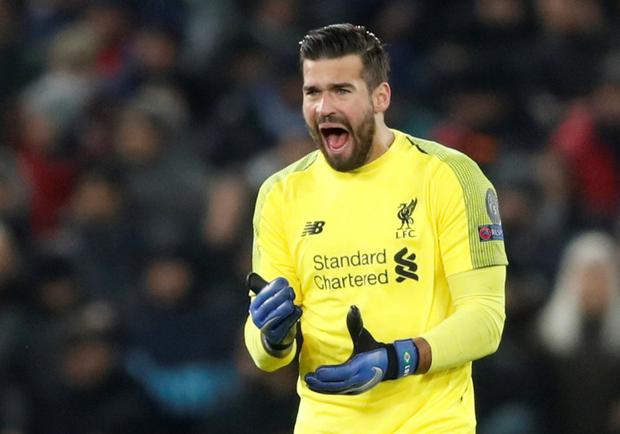 Alisson is a big hit on the Kop. Photo: Action Images via Reuters