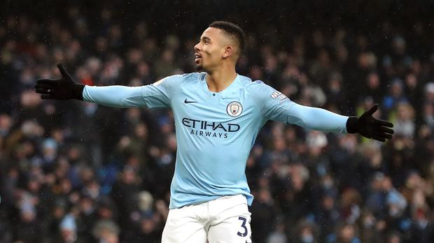 Manchester City's Gabriel Jesus returned to form against Everton (Martin Rickett/PA)