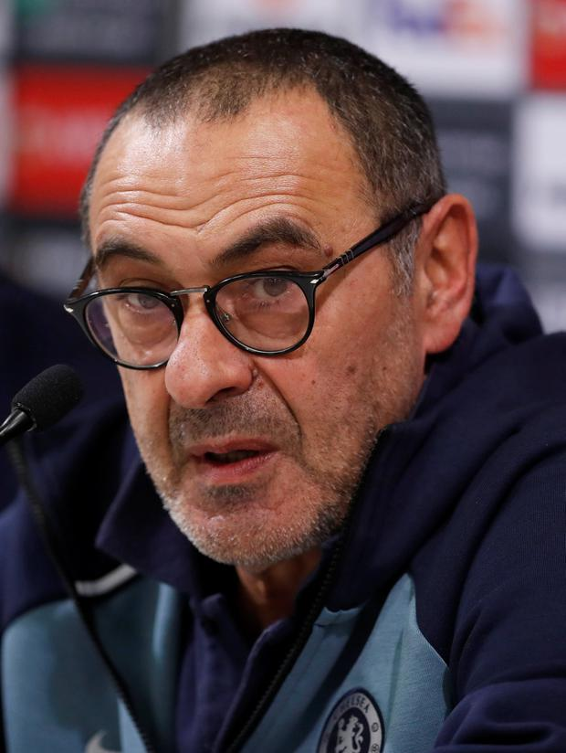 Maurizio Sarri: No argument on Kante. Photo: Action Images via Reuters