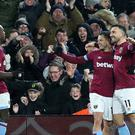 West Ham deepened Fulham's relegation worries at Craven Cottage (Chris Radburn/PA)