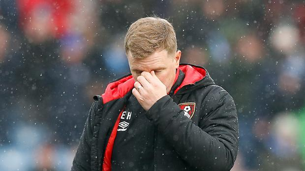 Eddie Howe's Bournemouth team are on a bad run and face Chelsea next (Martin Rickett/PA)