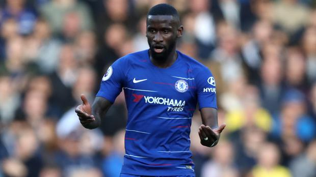 Antonio Rudiger, pictured, insists he is happy with his current Chelsea contract (Andrew Matthews/PA)