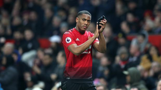 Manchester United have extended Anthony Martial's contract (Martin Rickett/PA)