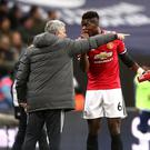The relationship betwen Jose Mourinho (left) and Paul Pogba came under intense scrutiny (John Walton/PA).